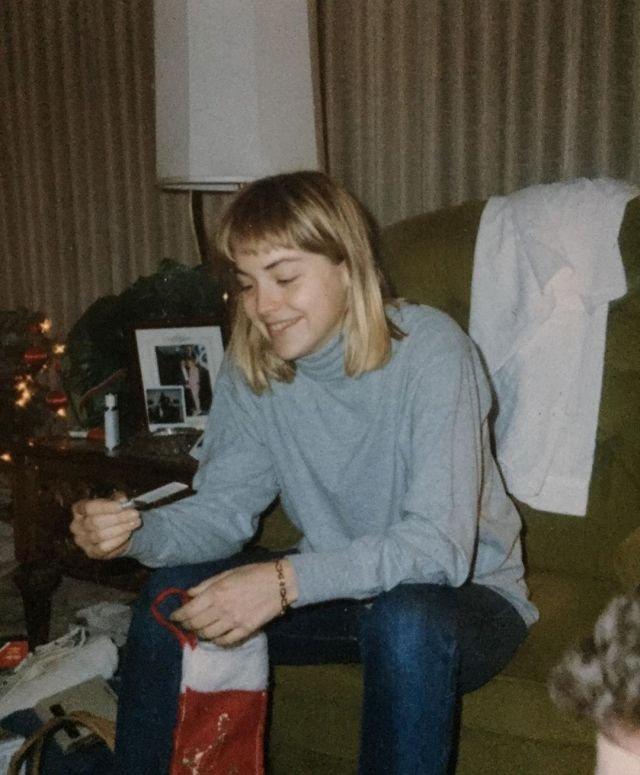 Шэрон Стоун на рождественских каникулах, 70-е