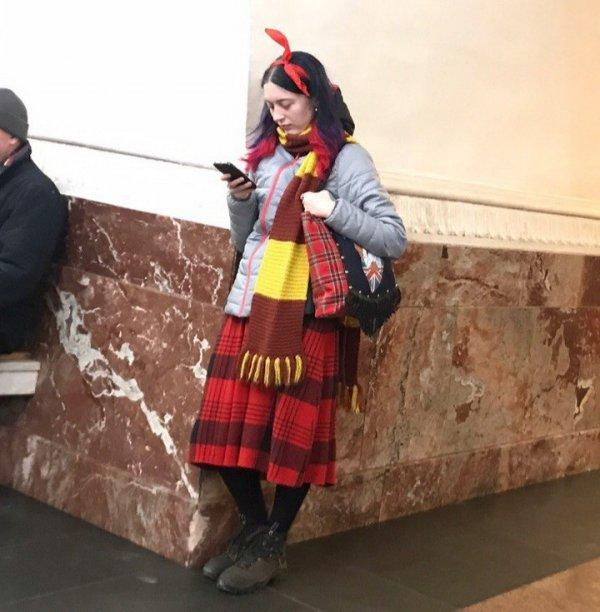 Чудаки и модники из метро