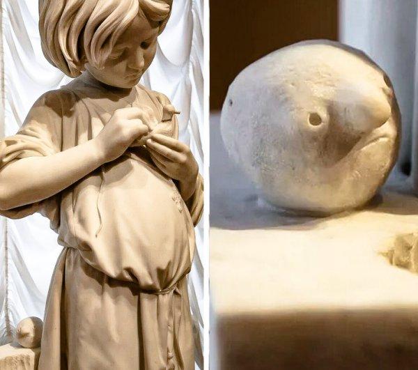 В Русском музее есть мраморный колобок, на которого я раньше не обращал внимания