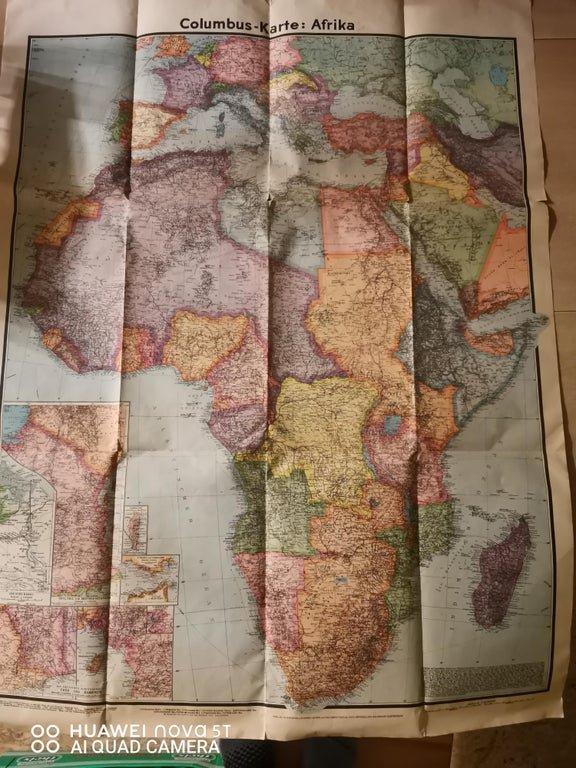 Нашел карту Африки 1941 года на чердаке
