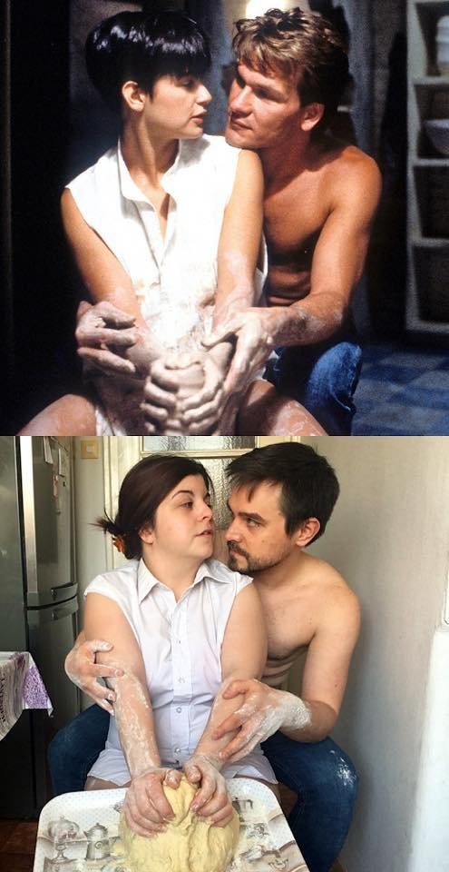 Пара из Венгрии на карантине воссоздаёт кадры из фильмов, используя все, что попадется под руку