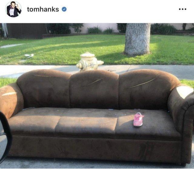 Странное фотографии в Instagram Тома Хэнкса
