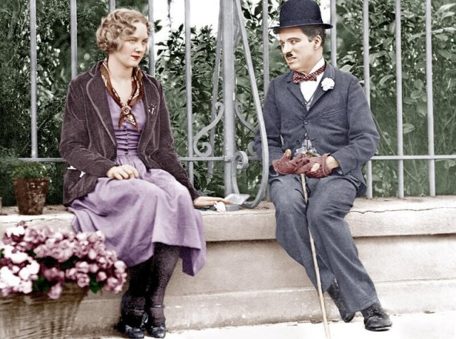 Цветные фотографии Чарли Чаплина 1910-1930 годов