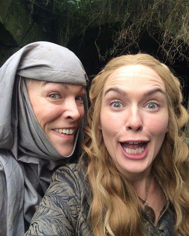 «Игра престолов»: забавные кадры со съемок культового сериала