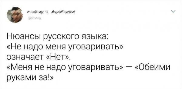Подборка забавных твитов про русский язык