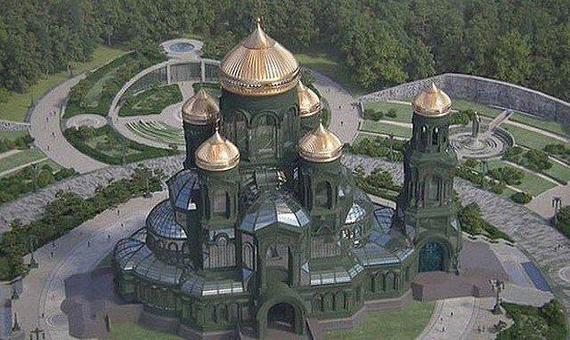Сергей Шойгу посмотрел на Главный храм Вооруженных сил России в паркет «Патриот»