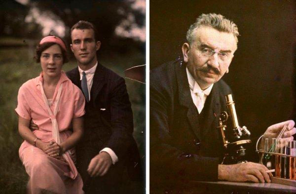 Первые цветные фотографии братьев Люмьер