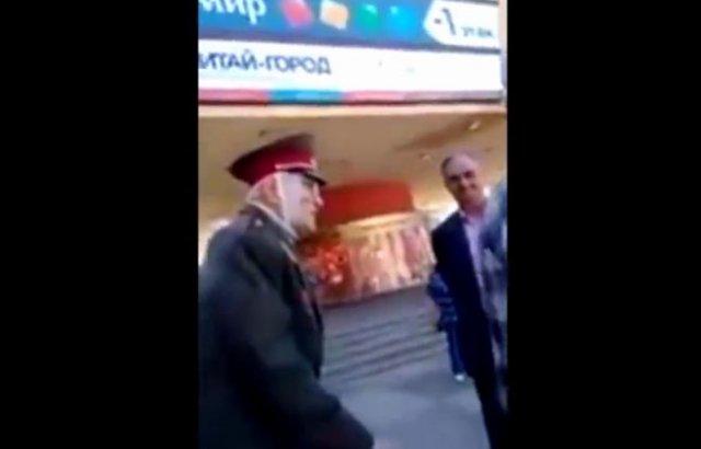 Ветеран Великой Отечественной войны против полицейского
