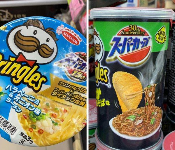 В Гонконге продается лапша со вкусом Pringles и наоборот