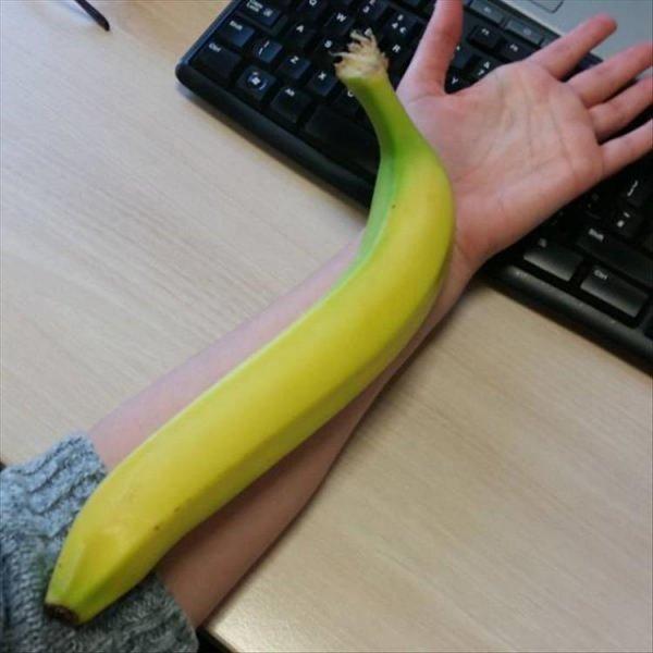 Таким бананом можно и по голове зарядить