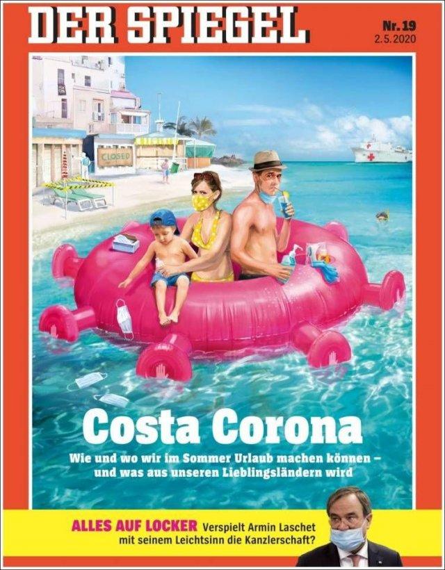Обложки лучших журналов о коронавирусе