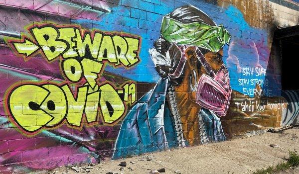Подборка крутых граффити на тему коронавируса