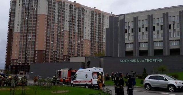 В Санкт-Петербурге загорелась больница Святого Георгия — погибли пациенты с коронавирусом