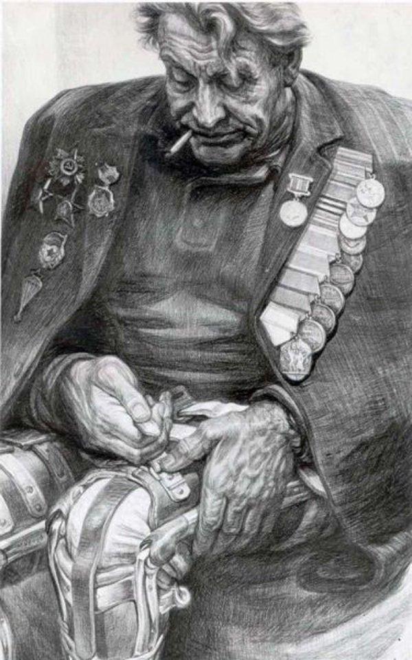 Рисунки художника Геннадия Доброва, посвященные трагедиям войны