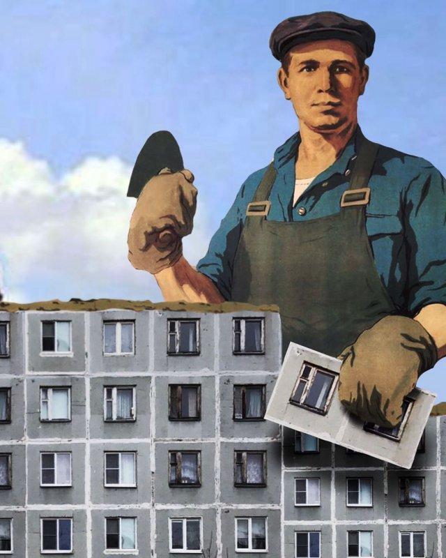 Художник нашел «применение» советским домам