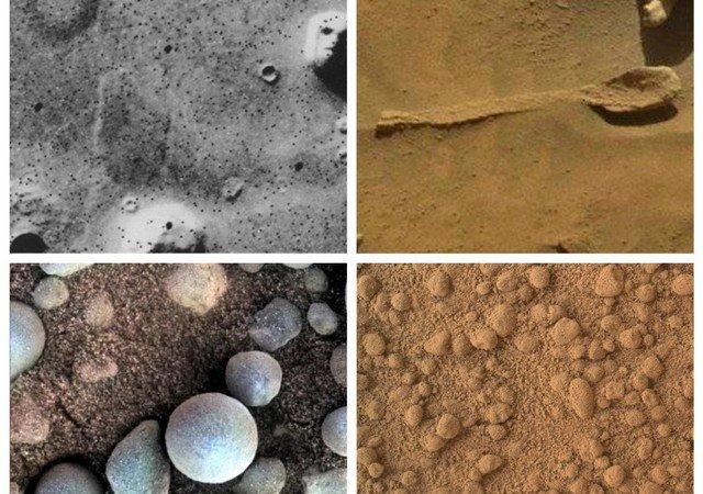 """Пользователи нашли на поверхности Марса """"ложки"""" и """"человеческие кости"""""""