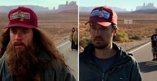 Пара путешествует по местам съемок популярных фильмов и воссоздает известные сцены
