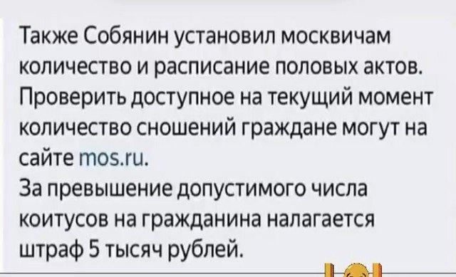 Шутки про Собянина, карантин и коронавирус