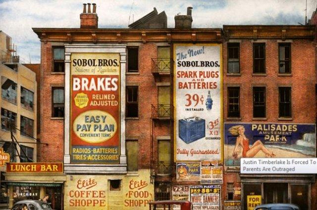 Фотограф раскрасил фотографии Нью-Йорка 1900-1940-х годов