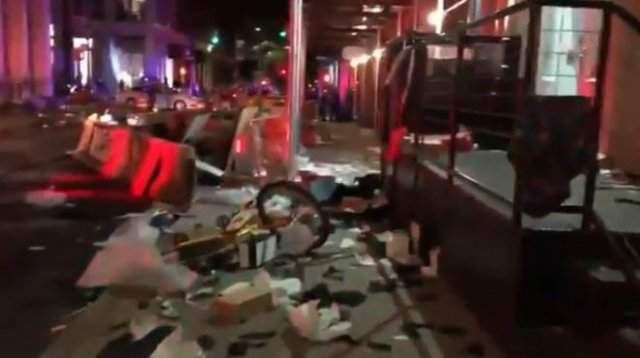 Разрушенный после протестов Манхэттен