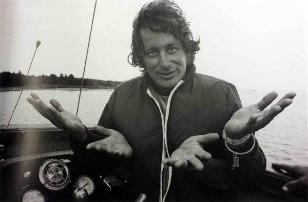 Стивен Спилберг на съёмках «Челюстей», 1975 год