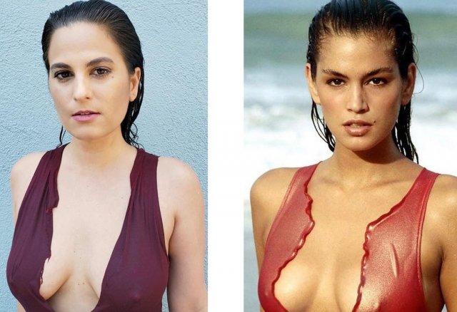 SwimsuitIconChallenge: обычные женщины повторяют снимки супермоделей в бикини