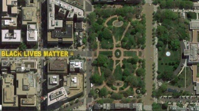 В Вашингтоне часть улицы возле Белого дома переименовали в «Black Lives Matter Plaza»