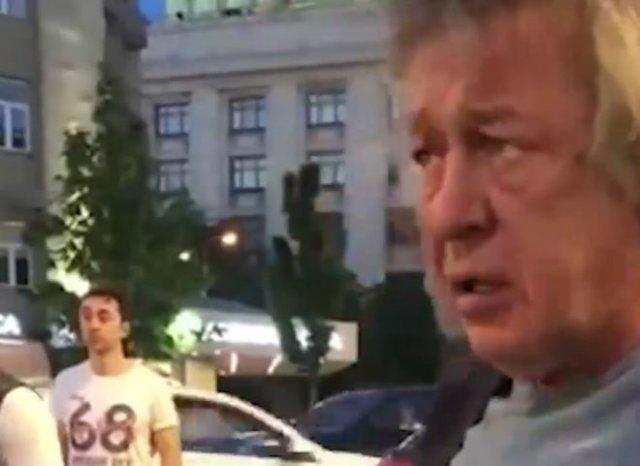 Михаил Ефремов устроил серьезное ДТП на Смоленской площади в Москве