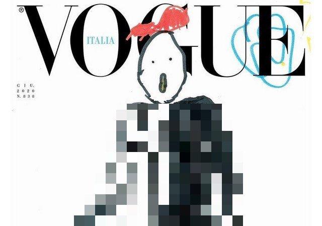 Июльский номер итальянского VOGUE выйдет с детскими рисунками