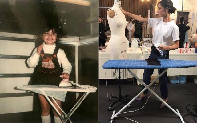 Виктория Бекхэм в начале 80-х и сейчас