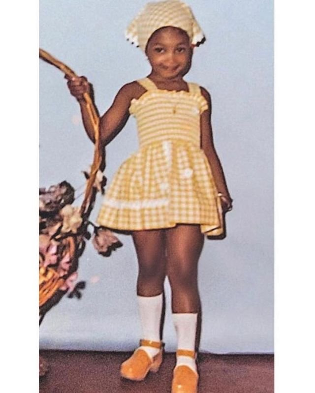 Наоми Кэмпбелл в 3 годика, 1974 год