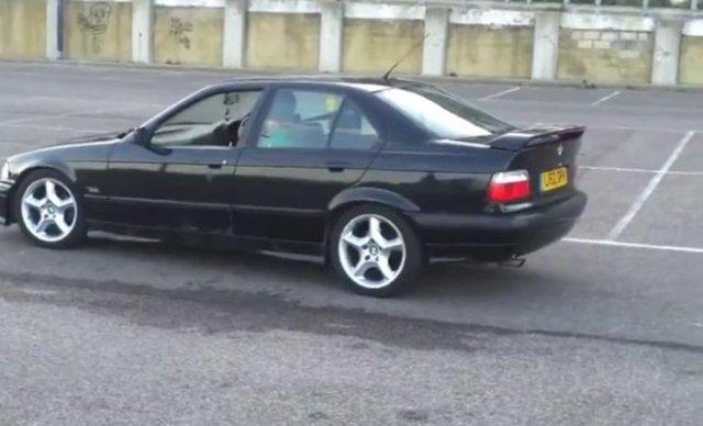 Неудачный дрифт на BMW