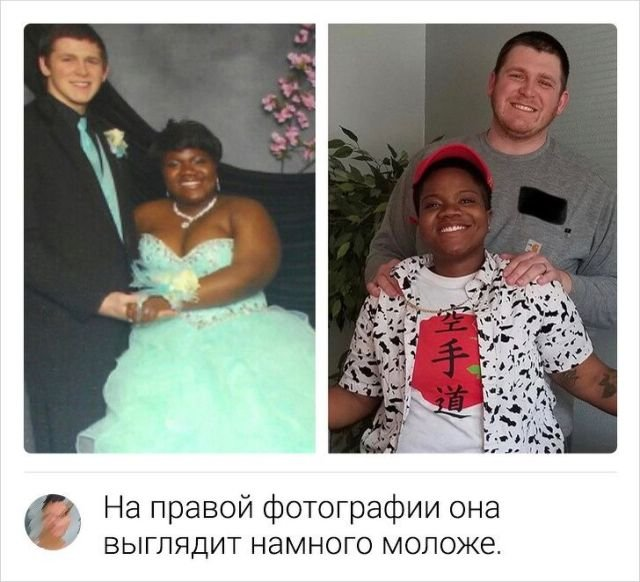 Слева — наш выпускной в 2013-м, справа — Рождество 2019-го