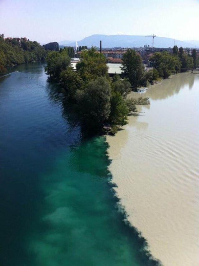 Встреча двух рек, Женева