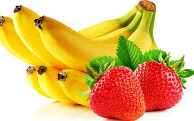 бананы и клубника