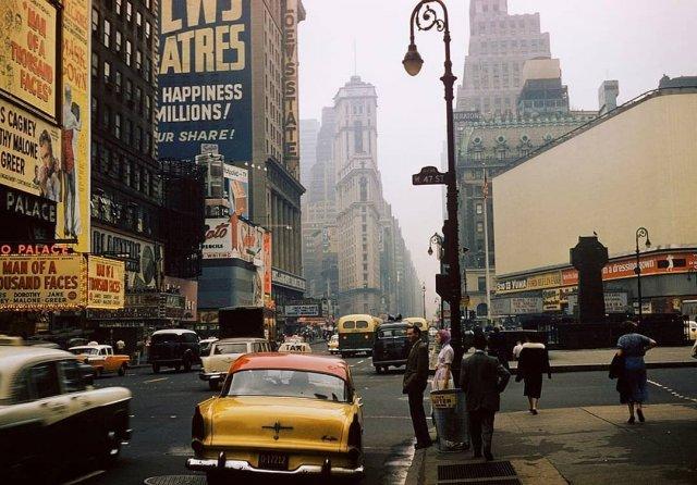 Атмосферные фотографии Нью-Йорка прошлого века