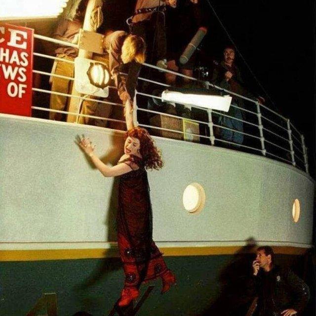 """Архивные кадры съемок фильма """"Титаник"""""""