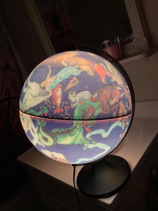 Глобус с созвездиями
