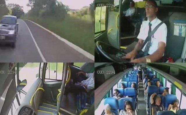 Спас пассажиров автобуса
