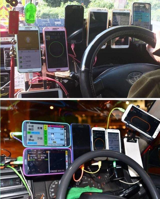 Гонконгские таксисты