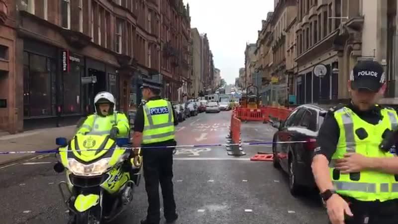 Нападение в центре Глазго (Шотландия)!