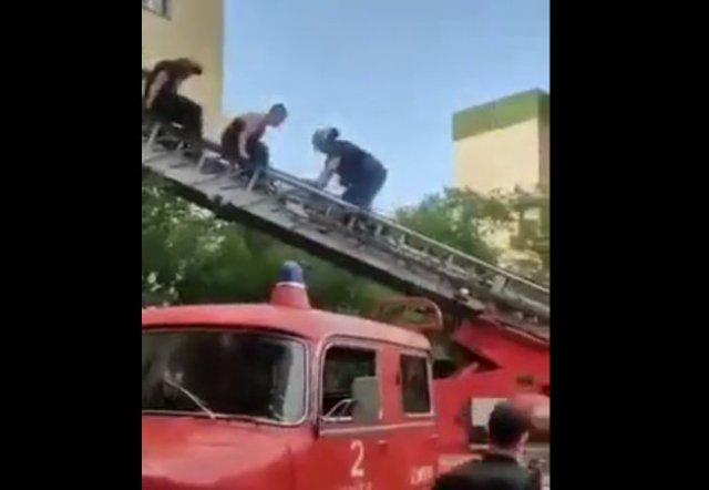 Сотрудникам МЧС пришлось снимать с дерева наркомана