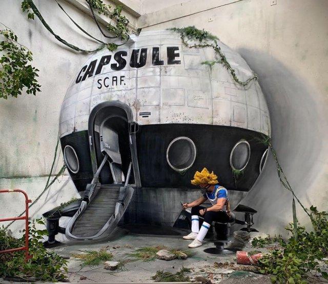 Уличные граффити Скаф, от которых становится не по себе