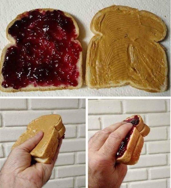 Неправильно ты, дядя Фёдор, бутерброд ешь