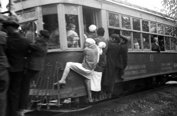 Поездка в трамвае в СССР, 1929 год