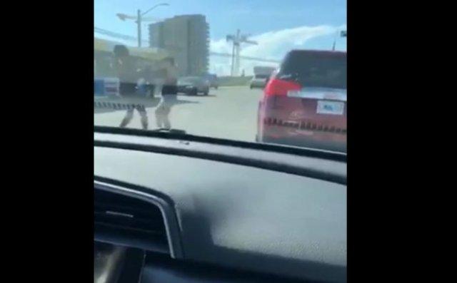 В Канаде темнокожая девушка напала на женщину и избила ее щенком