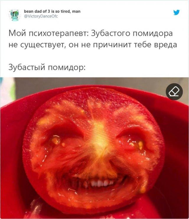 Синьор Помидор – или как приложение на телефоне приняло помидор за лицо
