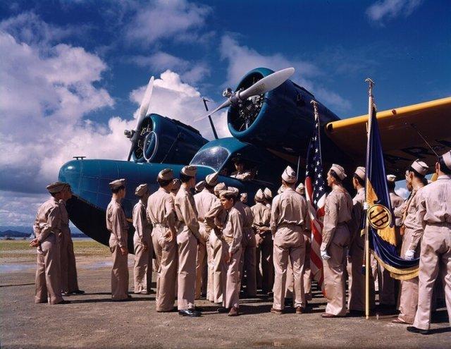 Индустриальные фотографии США 1940-х годов в цвете