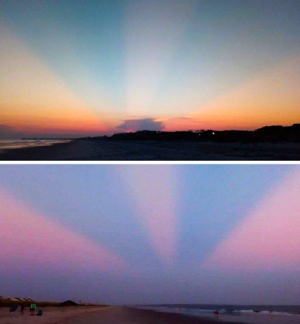 Невероятные лучи солнца