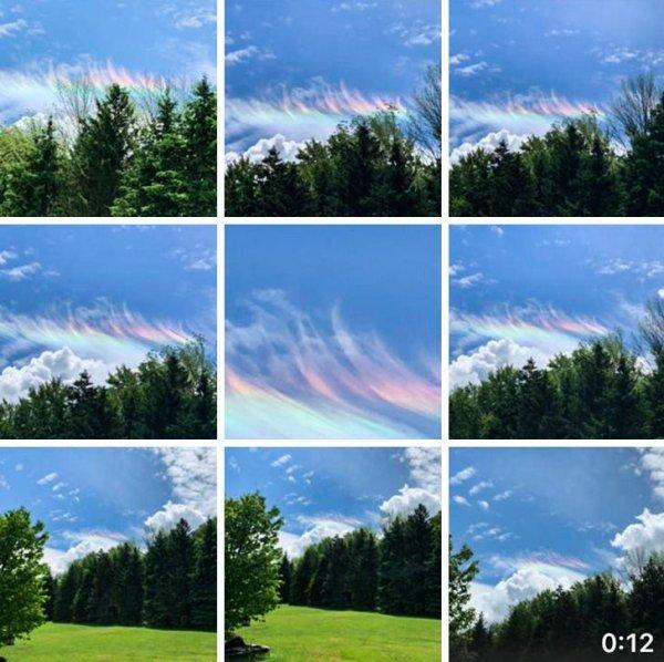 Оказывается существуют радужные облака